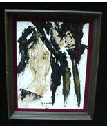 c.1972 A. Castro Retro Modernist Abstract Oil Painting - $35.00