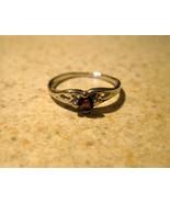 RING WOMENS LADIES GEMSTONE FAUX PURPLE AMETHYS... - $9.99