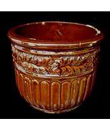 Antique 1923  Brown Art Pottery Jardiniere Planter Pot  - $35.00