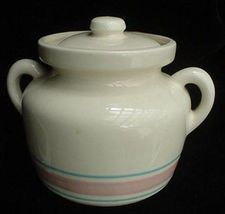 McCoy Pottery Stonecraft Banded Bean Pot Canister Jar - $17.50