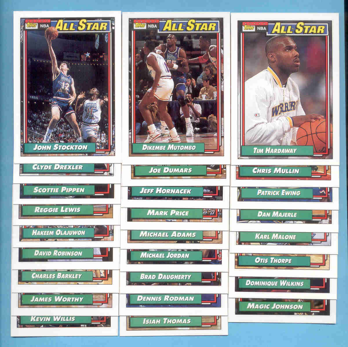 1992/93 Topps All Stars Basketball Set