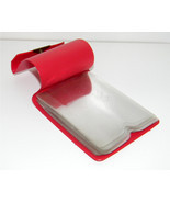 Red Vintage Purse Photograph Holder plastic ins... - $1.55