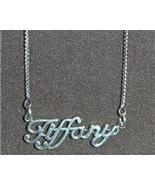 Sterling Silver Name Necklace - Name Plate-TIFFANY - $54.00