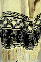AMERICAN RAG Oversized Open Front Sweater Vest Southwest Print Fringed FLAW Sz M image 3