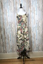 Anthropologie L Konrad Joseph Floral Leaf Boho Print High Low Maxi Dress... - $65.71