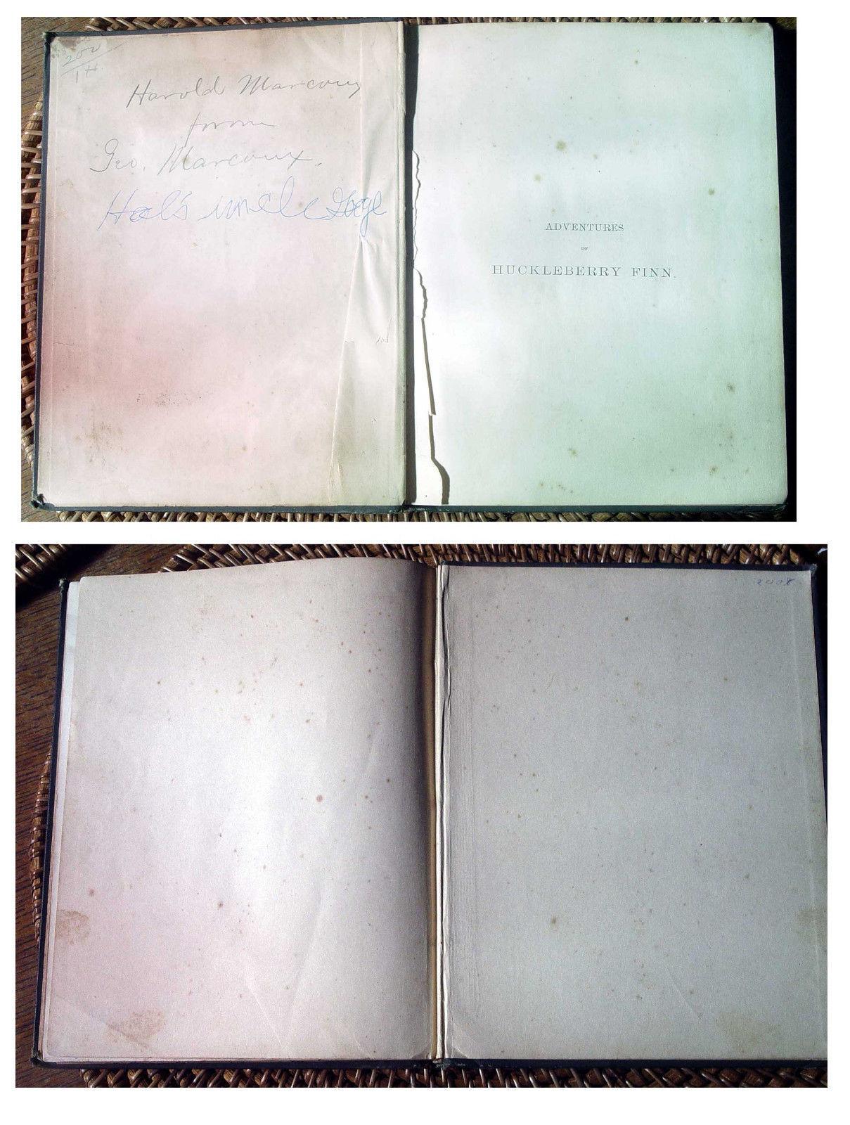 Mark Twain ADVENTURES OF HUCKLEBERRY FINN salesmen's sample