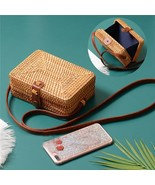 Summer Round Straw Bags Small Women Rattan Bag Handmade Woven Beach Wome... - $28.76