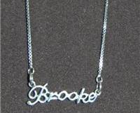 Sterling Silver Name Necklace - Name Plate - BROOKE