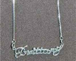 Sterling Silver Name Necklace - Name Plate - BRITTANY - $54.00