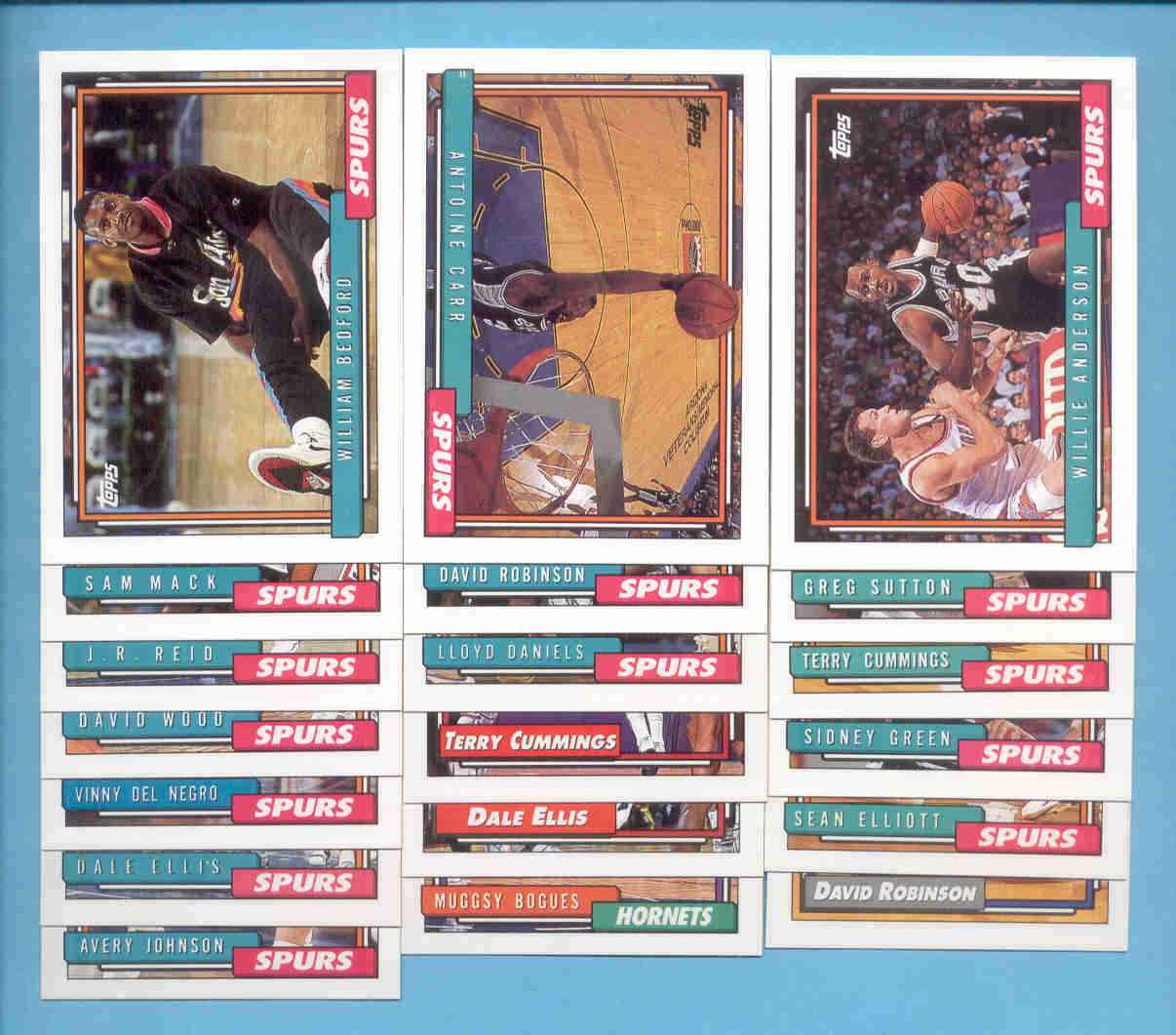 1992/93 Topps San Antonio Spurs Basketball Team Set