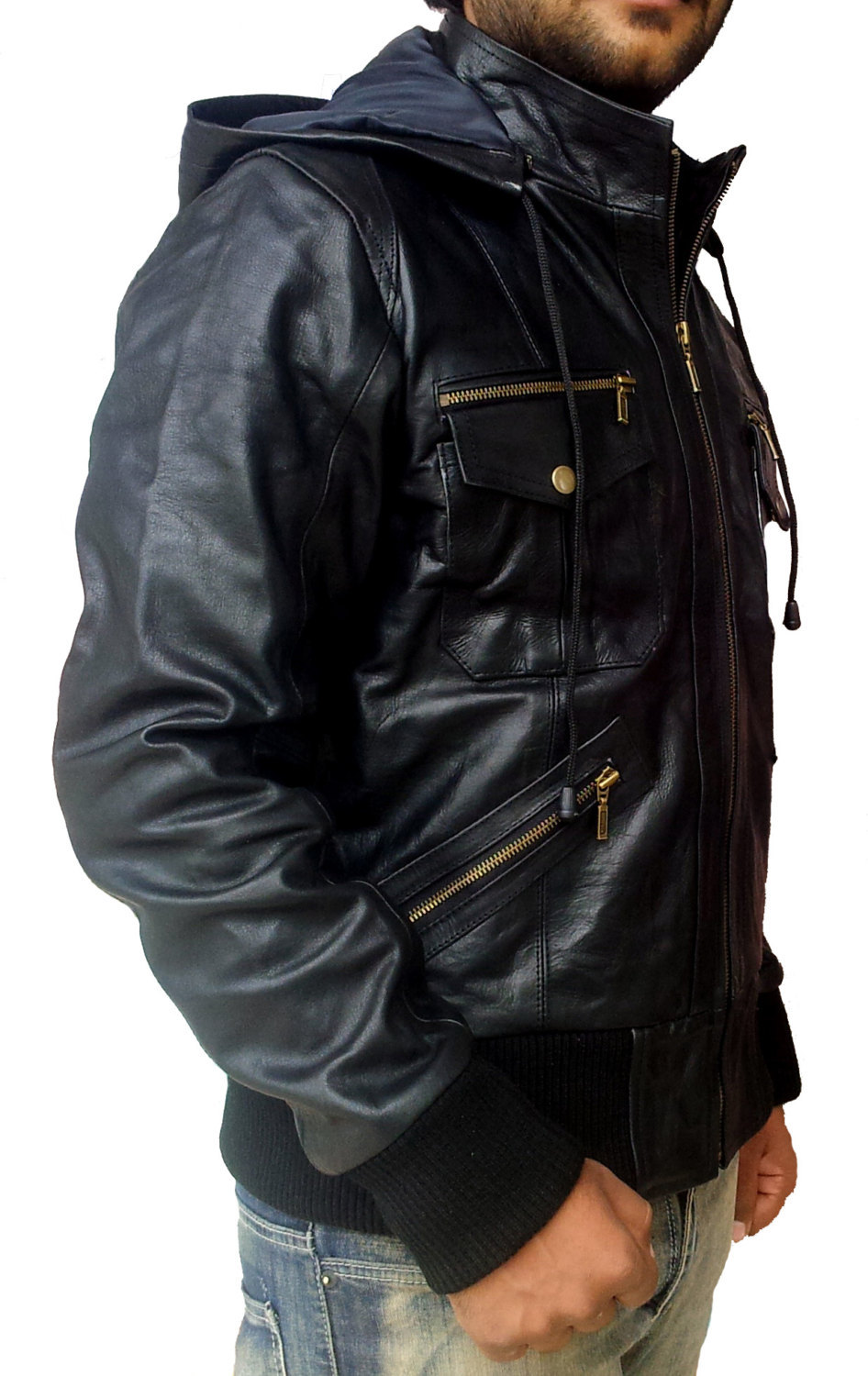Custom made leather jackets for men