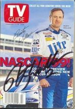 FEBRUARY 1999 NASCAR EDITION OF TV GUIDE MAGAZINE RUSTY WALLACE COVER SI... - $75.00