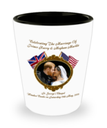 Prince Harry And Meghan Commemorative Wedding Shot Glass Collectors Keep... - $11.99