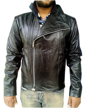 Handmade New Men High Collar Soft Leather Jacket, Men leather jacket, Le... - $139.00