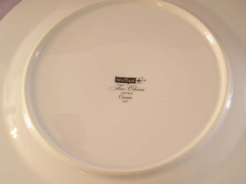 Sheffield Fine China Classic Dinner Plate