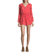 Arizona Long Sleeve Skirtalls Juniors Romper Size S Msrp $42.00 Coral  - $14.99