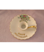 Lefton China Anniversary Candle Holder - $6.00