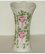 Cinque Ports Pottery The Monastery Rye UK Fuchsia Floral Vase - $11.00
