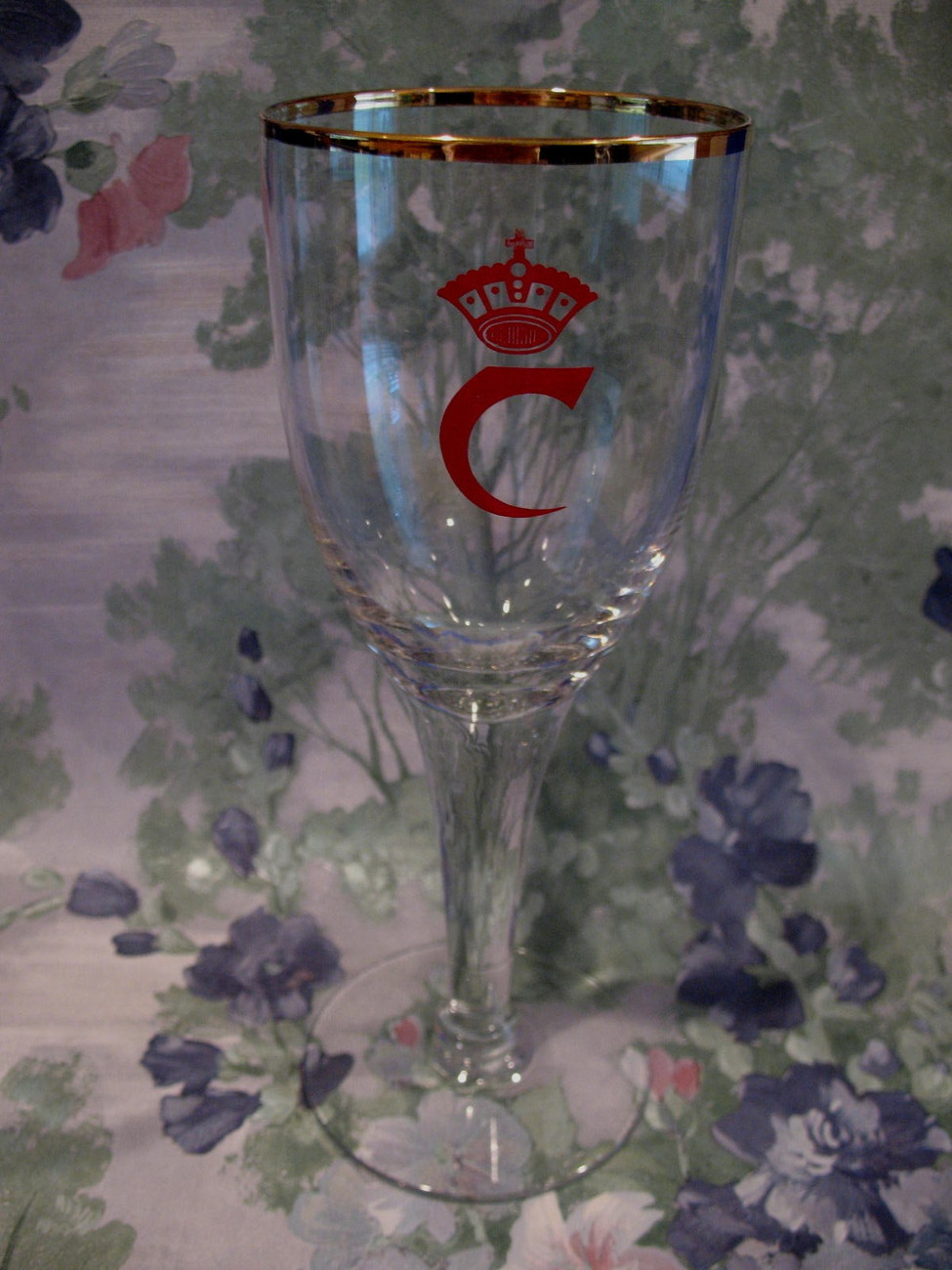 Vintage Carlsberg Beer Glass Souvenir Collector Collectible Red Crown C Logo