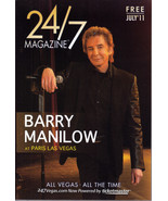 BARRY MANILOW at PARIS - 24/7 Mag July 2011 - $4.95