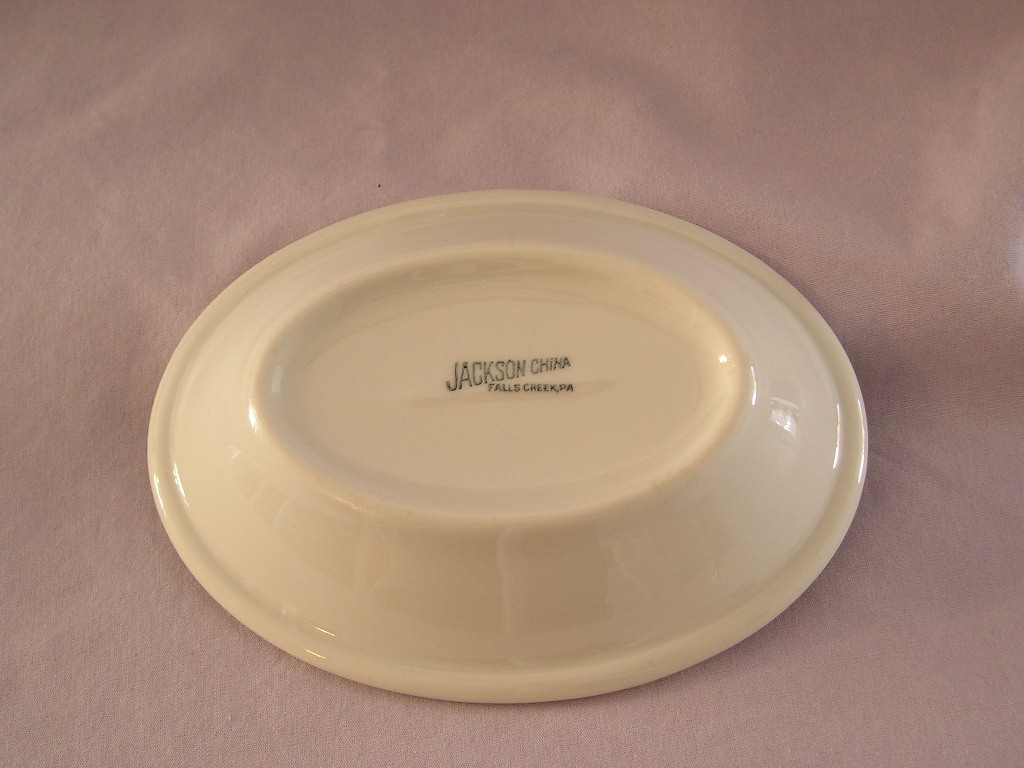 Jackson China Falls Creek Oval Dessert/Sauce Bowl