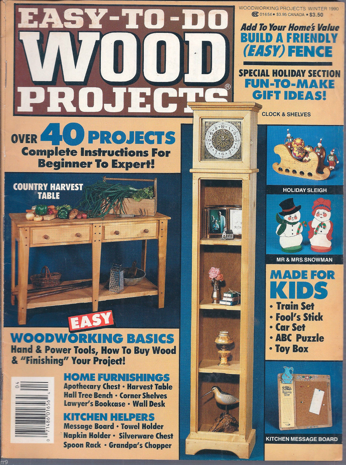 Primary image for Easy To Do WOOD Projects Winter 1990 Magazine
