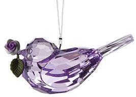 Gnz Crystal Expressions 3 Inch Rose Bird Ornament/Sun Catcher (Purple) - $7.43