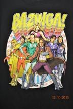 Big Bang Theory T-Shirt Bazinga! Comic Group Picture  Black Size Large - $13.70
