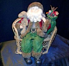 Christmas Santa Sitting on a Wicker Bench AA-191920 Collectible image 5
