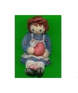 Raggedy Ann with Heart Seated Enesco - $12.50