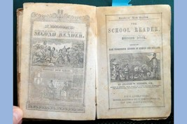 1853 antique SCHOOL READER LESSONS SPELLING BOOK ANTI-MEXICAN~TROUT,MALV... - $87.95