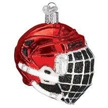 Old World Christmas Glass Blown Ornament with S-Hook and Gift (Hockey Helmet) - $29.36