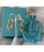 """Tiffany & Co. 18k Gold Graduated Oval Hoop Earrings~1 1/8"""" Long~7.1 Gram... - $1,050.00"""