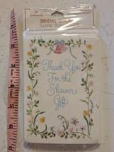 Hallmark Bridal Shower Thank You Card 10 Pack Sealed Floral Border - $5.00