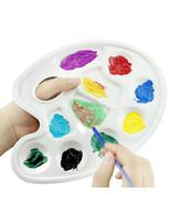12 Stück Kunstoff Farbe oval Platte Malen liefert Schule Klassenzimmer - €8,21 EUR+