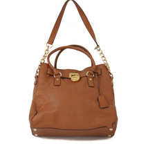 Michael Kors Brown Leather Hamilton Large Tote - $148.49