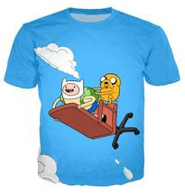 Fashion Men/Women Anime Adventure Time 3D Print Casual T-Shirt Short Sle... - $33.00