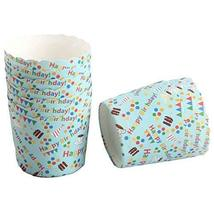 PANDA SUPERSTORE Happy Birthday 100 Pcs Heat-Resistant Cupcake Paper Baking Cup
