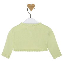 Mayoral Baby Girl 0M-12M Scallop Contour Knit Cardigan Sweater image 2
