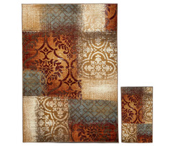 "Vintage Rustic Area 2-Piece Rug Set - 114""L x 79""W and 26"" x 45"" - $139.99"