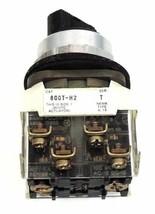 ALLEN BRADLEY 800T-H2 SELECTOR SWITCH SER. T W/ 800T-XA SER. D CONTACT BLOCK