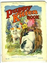 Puppy Kitten Book 1925 Regensteiner No. 52 LINENE  - $51.61