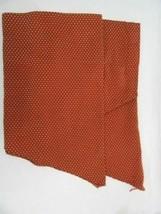 Waverly Burnt Orange Embroidered Stitch 50 x 23 Ascot Valances (Set of 2) - $34.00