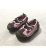 Crocs Toddler Child 5 Pink Brown Faux Fur Lined Mary Jane Shoes Girls - $12.99