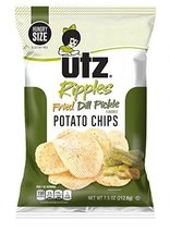 Utz Quality Foods Flavored Potato Chips 7.5 Ounce Hungry Size Bag (Fried Dill Pi - $22.74