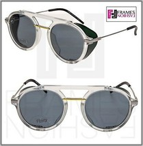 FENDI FANTASTIC FFM0012S Crystal Grey Green Aviator Spoilers Sunglasses ... - $306.90