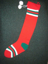 "KURT S. ADLER CHRISTMAS STOCKING Lot of 2 STRIPED 27"" and 24"" VINTAGE 1983 - $9.49"