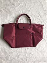 Longchamp Club Collection Horse Embroidery ShortHandle Medium Handbag Ga... - $95.00