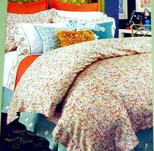 Sferra Jinnee King Duvet Cover Shams 3 PC Set 300TC Cotton Sateen Floral New - $265.90