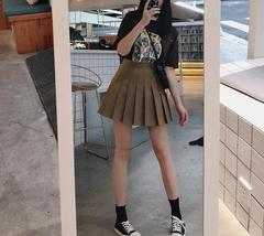 Women Girls Black Pleated Skirt Plus Size Black Pleated Mini Skirt Tennis Skirt image 3